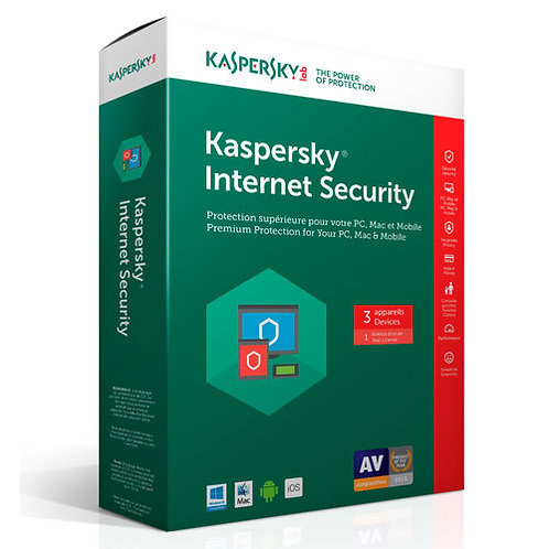 KASPERSKY INTERNET SECURITY 2017 1731012CZZ 3 USER