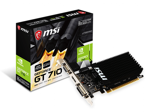 MSI GT710 2GD3H LP 2GB DDR3 OC 64BIT VIRTUALLY SILENT VGA
