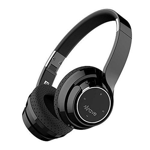 MEE WAVE BLUETOOTH WIRELESS ON-EAR HEADPHONES AF36 BLACK