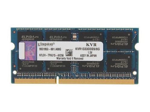DDR3-1333 8G KINGSTON SODIMM #KVR1333D3S9/8G