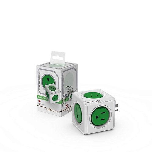 ALLOCACOC POWERCUBE ORIGINAL - 5 OUTLETS - GREEN