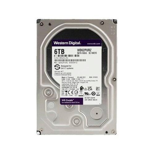 """HDD 6TB WD 3.5"""" WD62PURZ 5640RPM SATA6Gb/s 128MB PURPLE HD"""