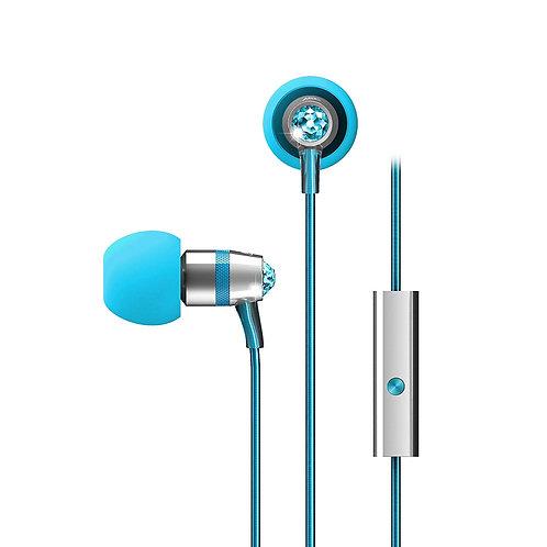 MEE M11J IN-EAR HEADPHONES W/ SWAROVSKI CRYSTALS - TURQUOISE