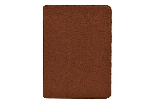 AMBERCNE LEATHER TABBY FOLIO CASE FOR IPAD AIR 2 BROWN
