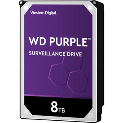 """HDD 8TB WD 3.5"""" WD82PURZ 7200RPM SATA6 256MB PURPLE HDD"""