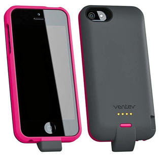 VENTEV 1500mAh POWERCASE FOR IPHONE 5 GRAY / PINK