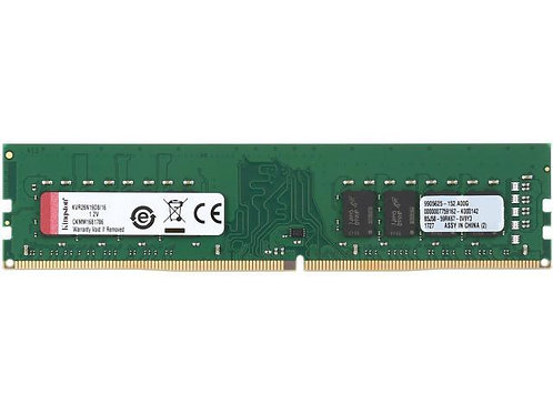 DDR4-2666 16G KINGSTON CL19 1.2V KVR26N19S8/16
