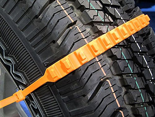 EMERGENCY TIRE TRACTION STRAPS FOR SNOW ICE IN CAR (10PCS / PACK)