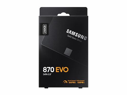 """SSD 250G SAMSUNG MZ-77E250B/AM 870 EVO SERIES 2.5"""" SATA6 Gb/s"""