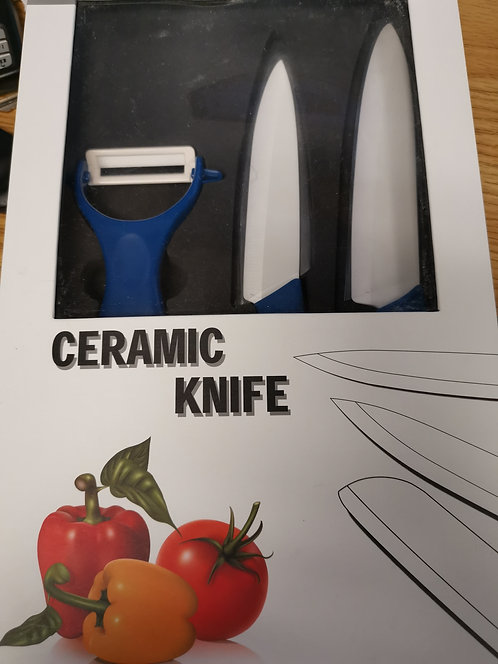 JOHNCERA CERAMIC 1 KNIFE + 1 PEELER BLACK