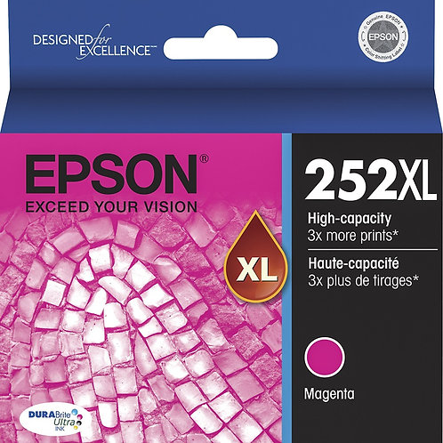 EPSON 252XL MAGENTA INK CARTRIDGE T252XL320