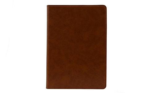 AMBERCNE LEATHER SMOOTH FOLIO CASE FOR IPAD AIR 2 BROWN
