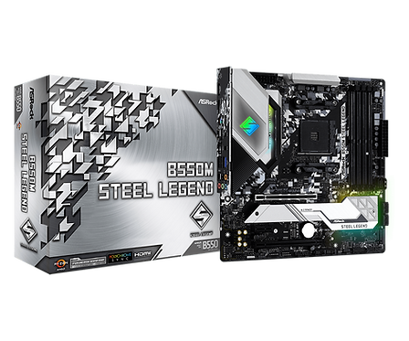 ASROCK B550M STEEL LEGEND AMD B550 AM4 SATA6Gb/s USB 3.2 MICRO ATX MB