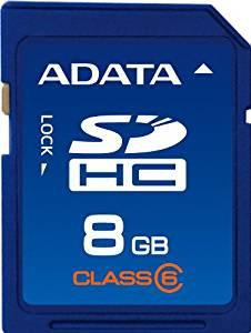 SDHC 8G ADATA RETAIL CL6 - ASDH8GCL6-R