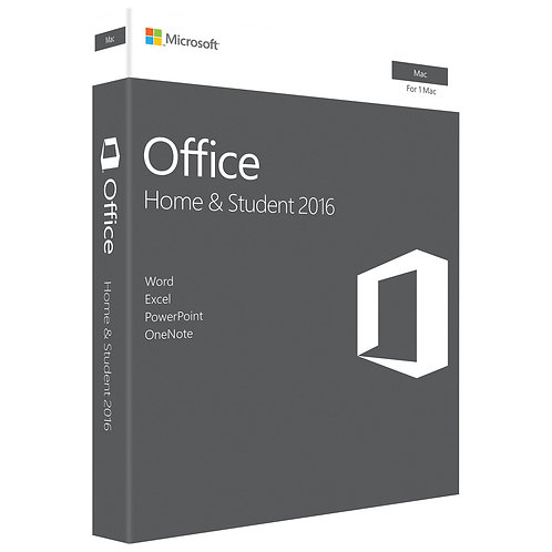 MS OFFICE 2016 MAC HOME STUDENT 1 LIC #GZA-00850 NEW PACKAGE