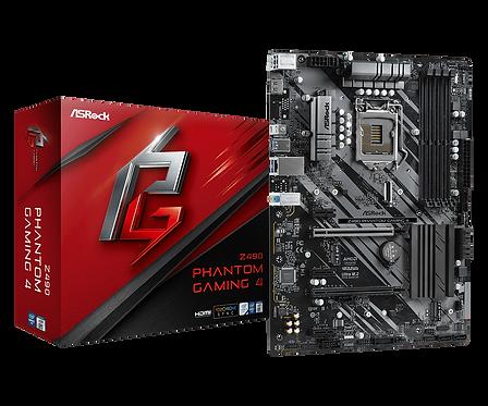 ASROCK  Z490  PHANTOM GAMING 4 INTEL Z490 L1200 DDR4 SATA 6Gb/s ATX MB