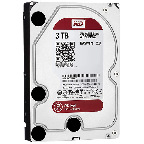 """HDD 3TB WD 3.5"""" WD30EFRX SATA 6 GB/S 64MB 5400RPM RED"""