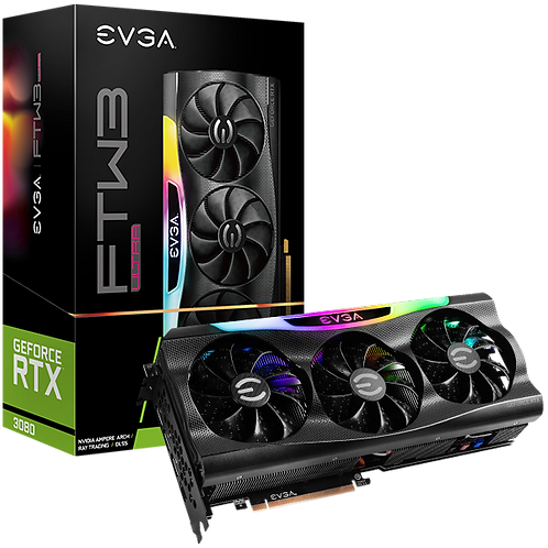 EVGA 10G-P5-3897-KR GEFORCE RTX 3080 FTW3 ULTRA GAMING 10GB GDDR6X iCX3 VGA