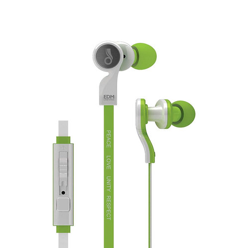 MEE EDM UNIVERSE D1P IN-EAR HEADPHONE W/MIC-GREEN