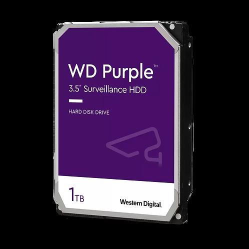 """HDD 1TB WD 3.5"""" WD10PURZ SATA3 PURPLE INTELLIPOWER 64MB"""