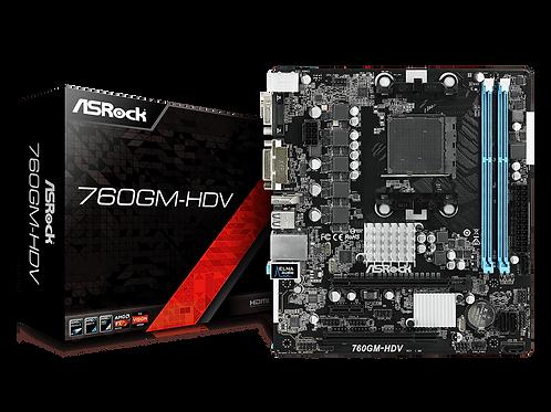 ASROCK 760GM-HDV AMD 760G AM3 DDR3 SATA2.0 MICRO ATX MB