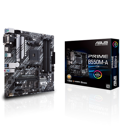 ASUS PRIME B550M-A/CSM AM4 Ryzen B550 128G mATX Retail MB