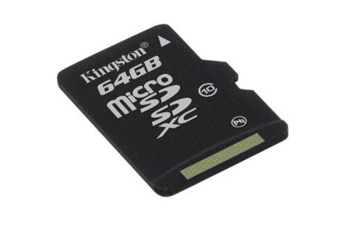 MICRO SDCX 64G KINGSTON C10 W/ ADP SDCX10/64GB
