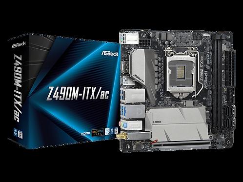 ASROCK Z490M-ITX/CA INTEL Z490 DDR4 SATA3 M.2 WIFI MINI ITX MB
