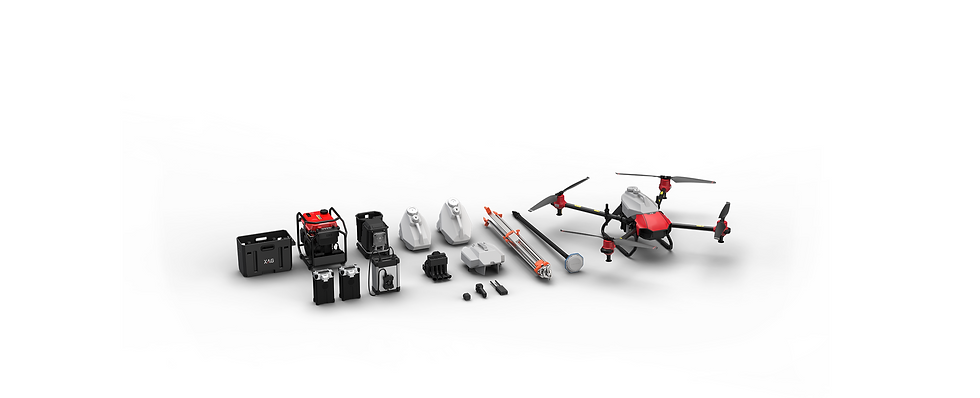 Agricultural drone kit with accessories