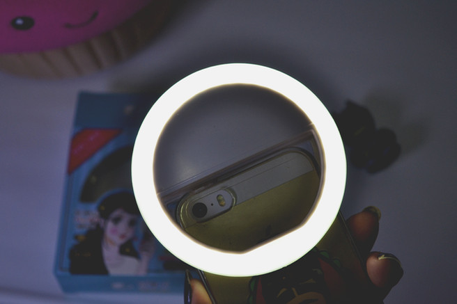 Mini ringlight para celular