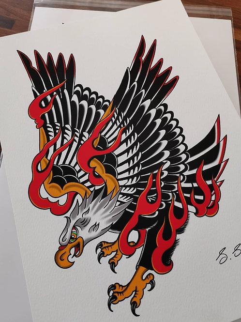 Flaming Eagle Print