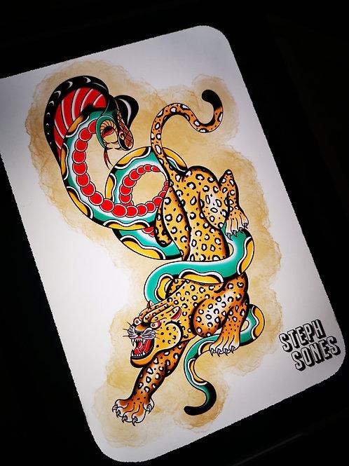 Leopard snake print