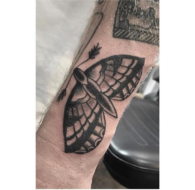Black and Grey Moth