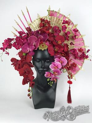 PINK-FLOWER-_-FAN-HEADDRESS-HEADPIECE---