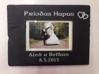 Ffrâm Briodas/Wedding photoframe