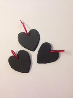 Calonnau Llechen/Slate hearts