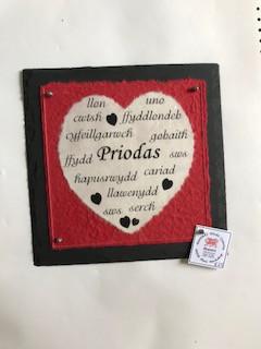 Plac Priodas/Wedding Plaque