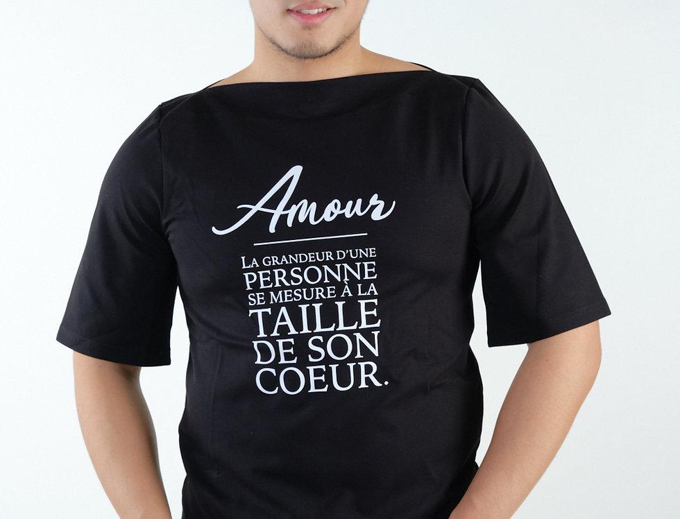 T-shirt col bateau Aimer noir - Collab' Pascal Malonda