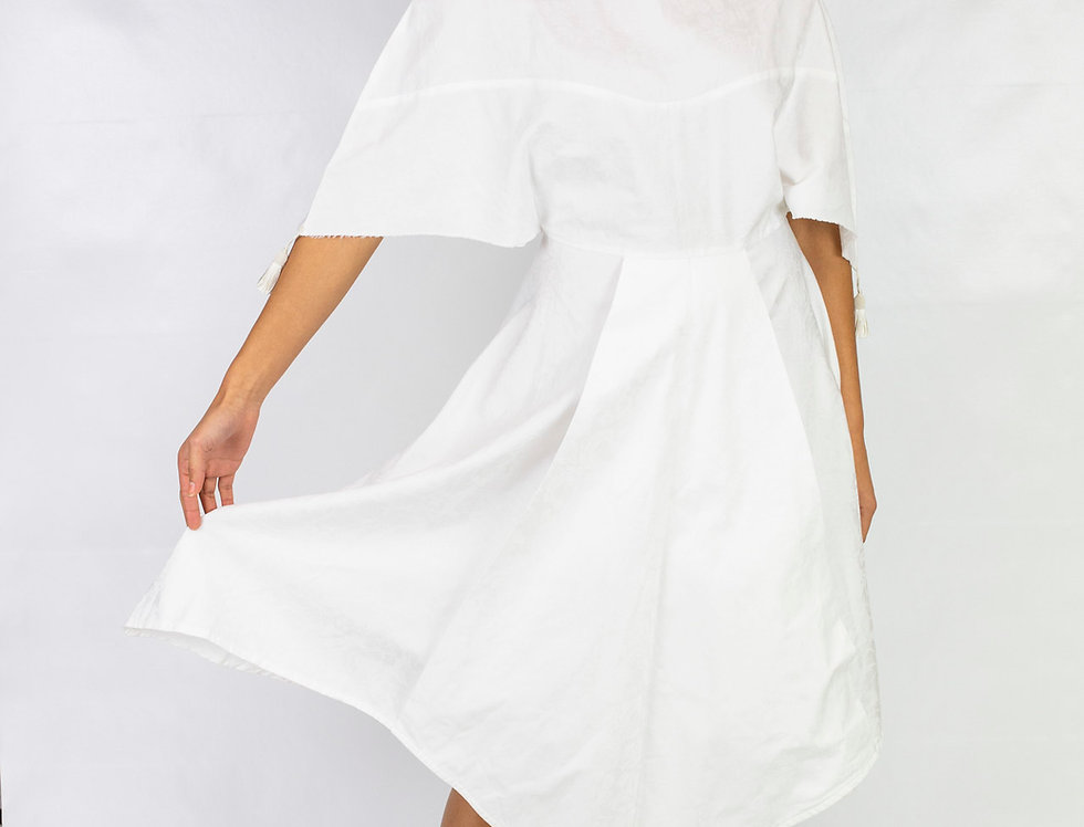 Derby's - Robe Esther amérindienne - blanc