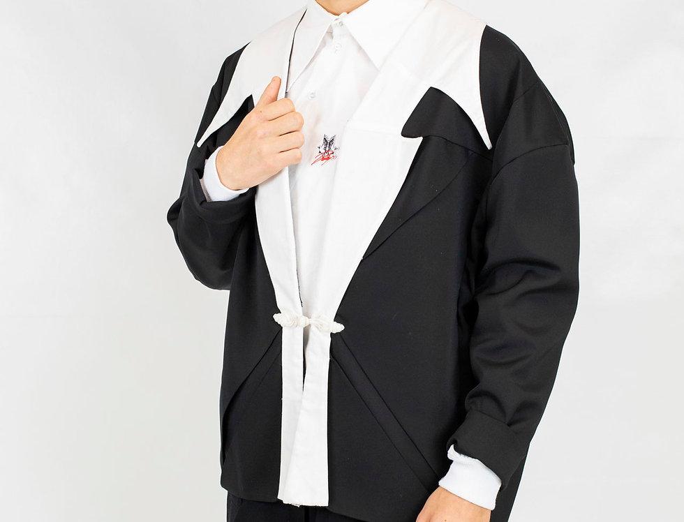 Derby's - Veste tailleur Salomon Col Derby's - Noir/blanc