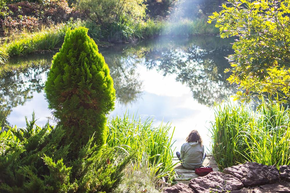 Meditating at the Big Om Yoga Retreat