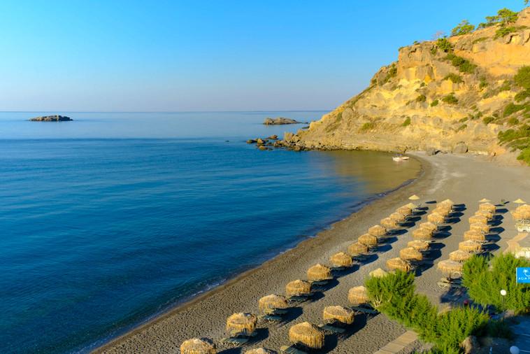 Agia Fotia beach view