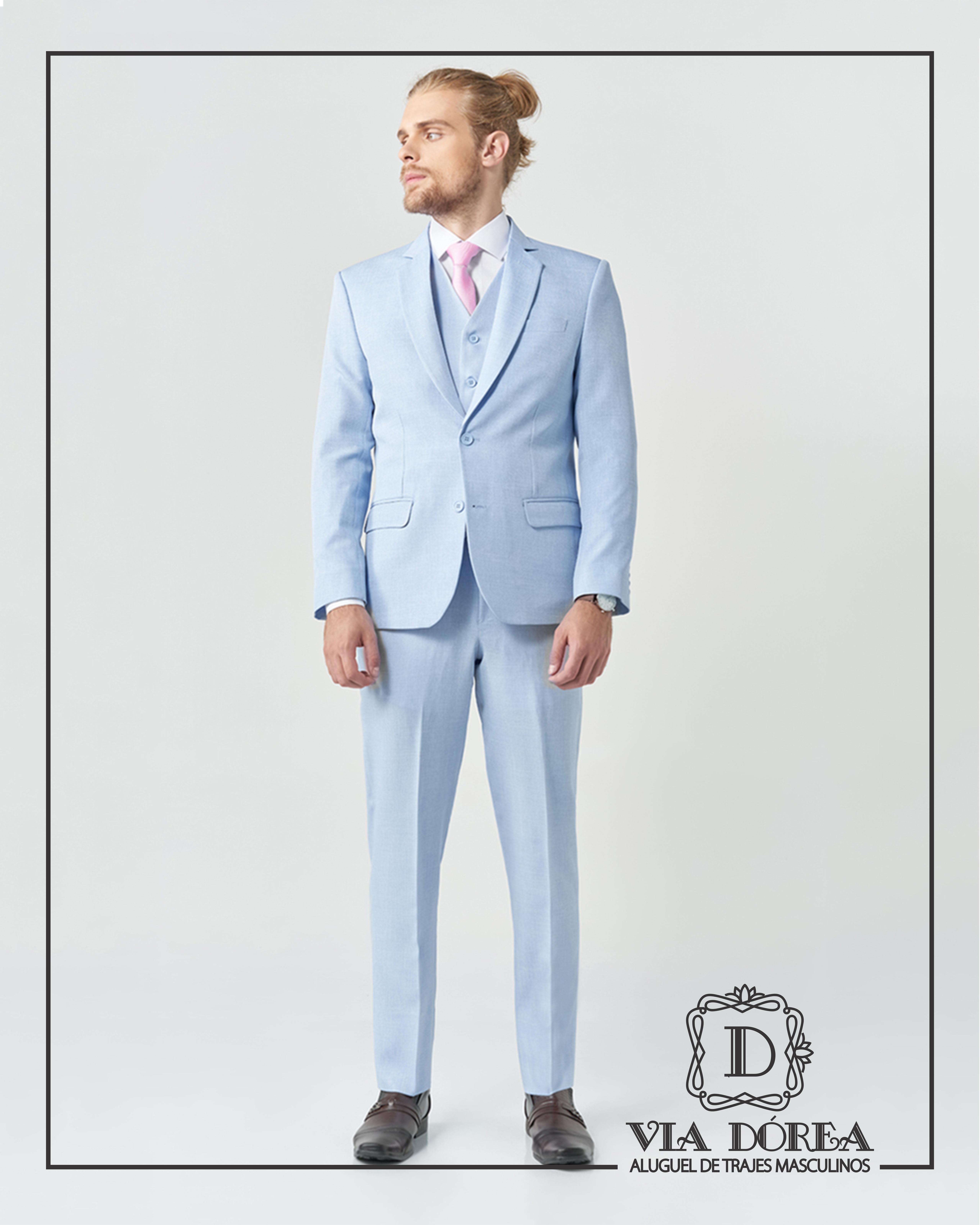 Terno Azul claro Slim Fit