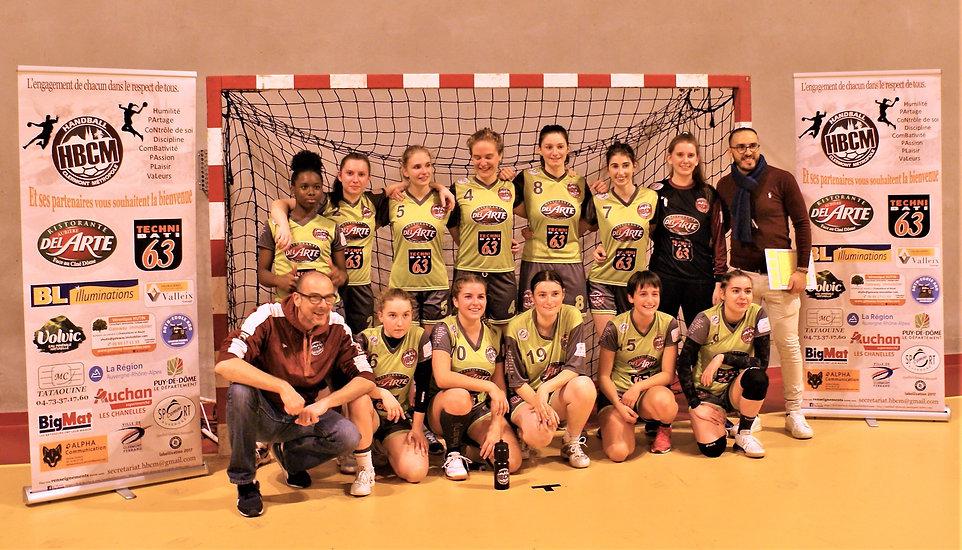 Équipe Sénior Féminine du Handball Clermont Métropole