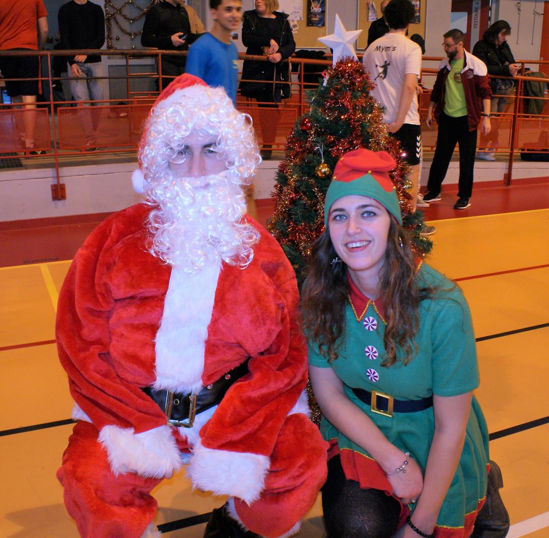 Père Noël et lutine