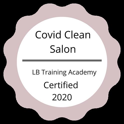 Covid Clean Salon Sign
