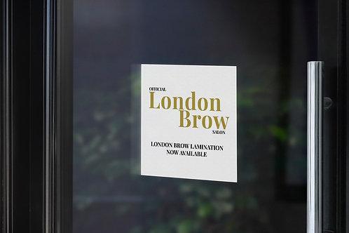 Salon Sign - London Brow Company Official Salon