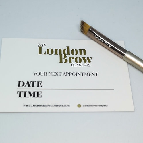 50 x Client Appointment Cards and Aftercare Cards - London Brow Company