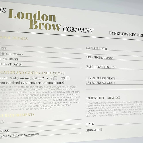 Consultation Cards London Brow Company