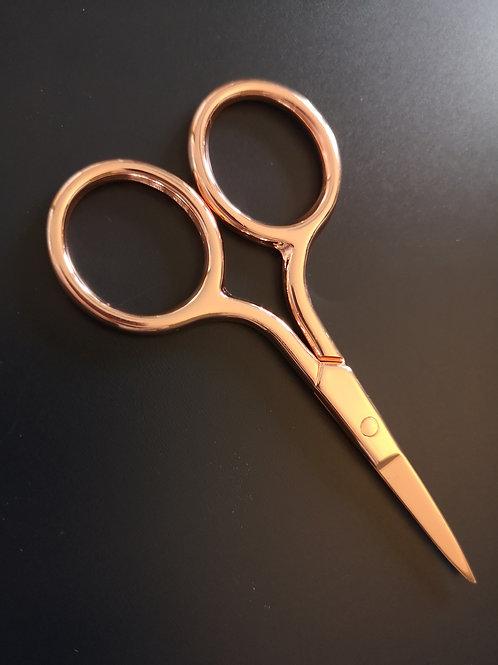 Precision Brow Scissors - Rose Gold
